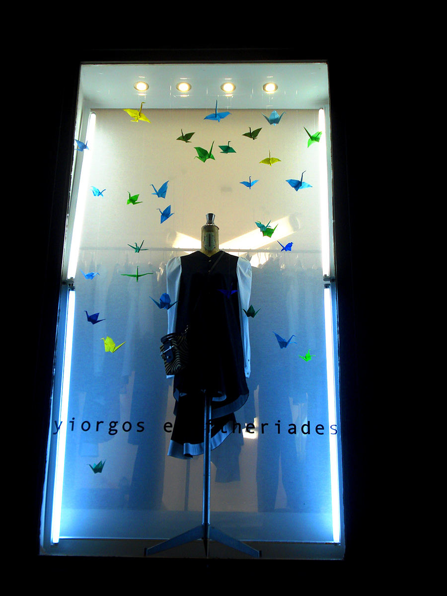yiorgos eleftheriades-athens window display-origami