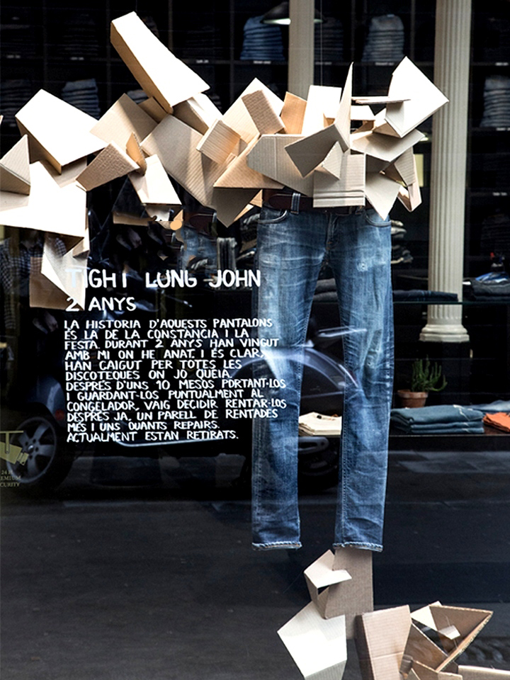 nudie jeans-by colapso-barcelona-window display