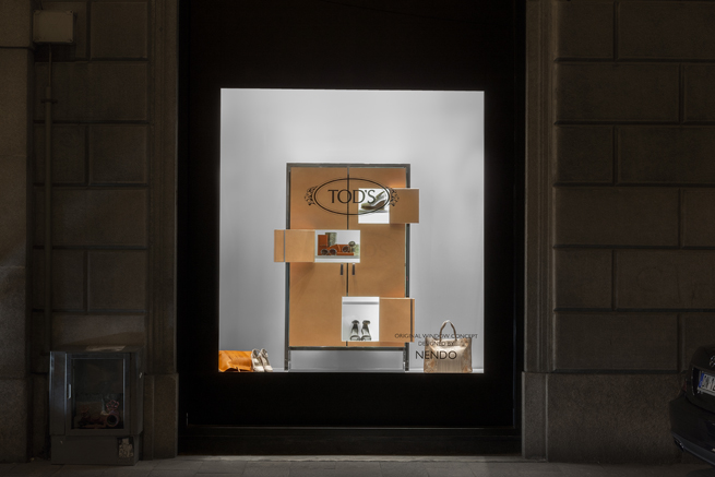 tods-by nendo-milan-shoes-window display