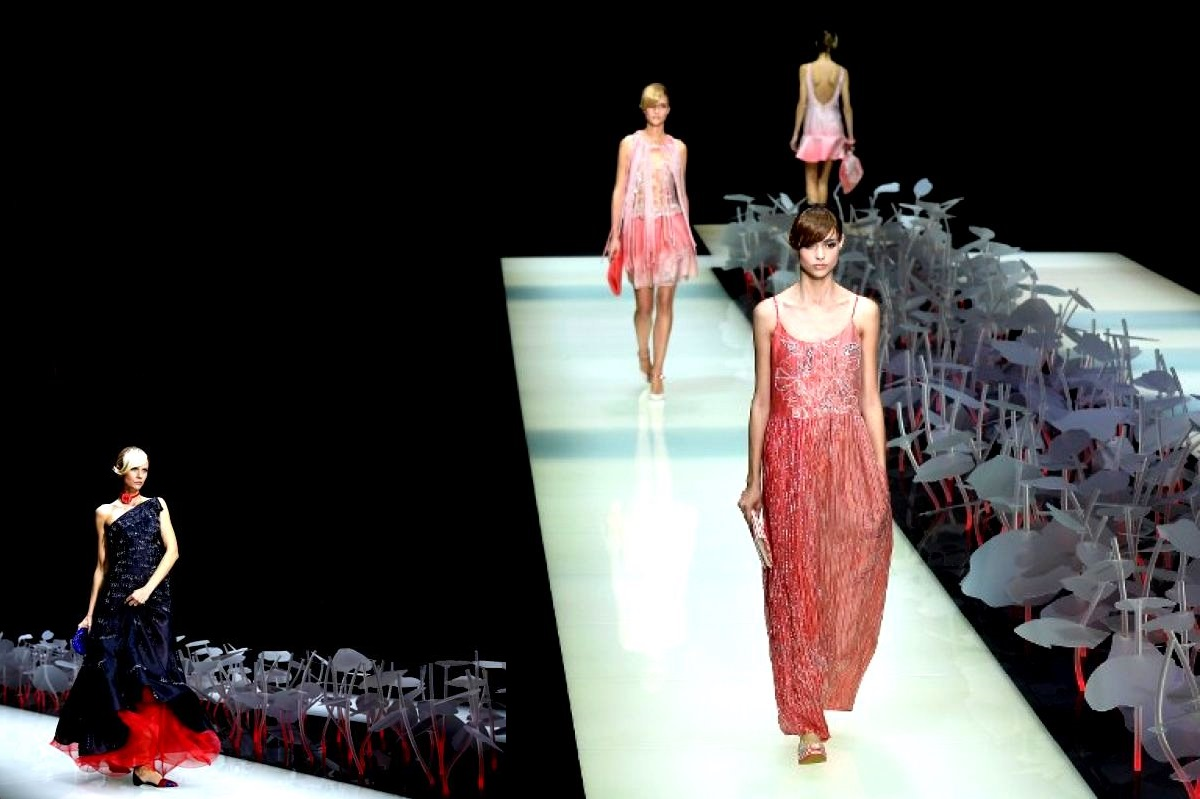 Catwalk design for Armani - Milan Fashion week